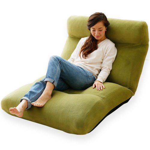 ロウヤ(LOWYA) 座椅子 贅沢ポケットコイル座面 Lサイズ