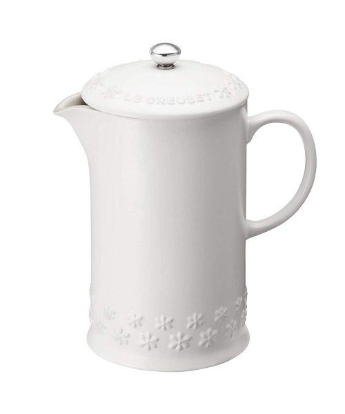 ル・クルーゼ(LE CREUSET) コーヒー・プレス フラワーレリーフ コットン