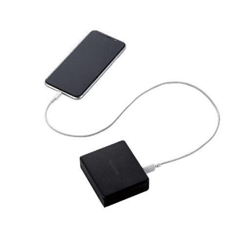 エレコム(ELECOM) AC充電器一体型モバイルバッテリー DE-AC01-N5824