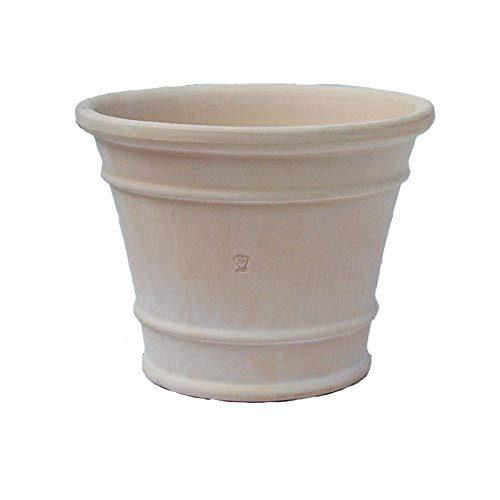 サンブルーム 白い植木鉢 テラコッタ 25cm