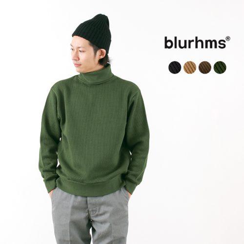 ブラームス(blurhms) ワイドウォールリブタートルネック