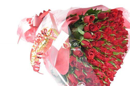 フルールココ(fleurcoco) オリジナル 深紅の赤バラ花束60本