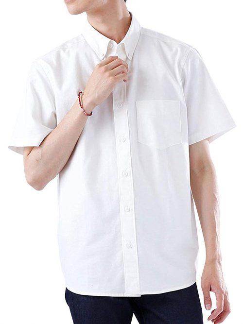 モノマート(MONO-MART) ハイストレッチ 半袖 オックスフォードシャツ