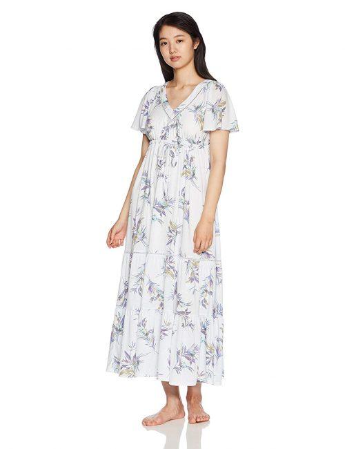 ジェラートピケ(gelato pique) TROPICAL 花柄半袖ドレス PWCO182336
