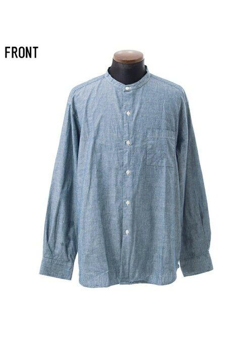 キャバリア(CavariA) 日本製スタンドカラー長袖ダンガリーシャツ