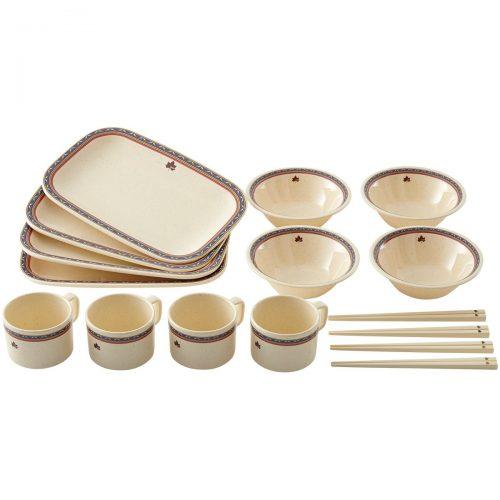 ロゴス(LOGOS) ナバホ パーティー箸付き食器セット4人用81285000