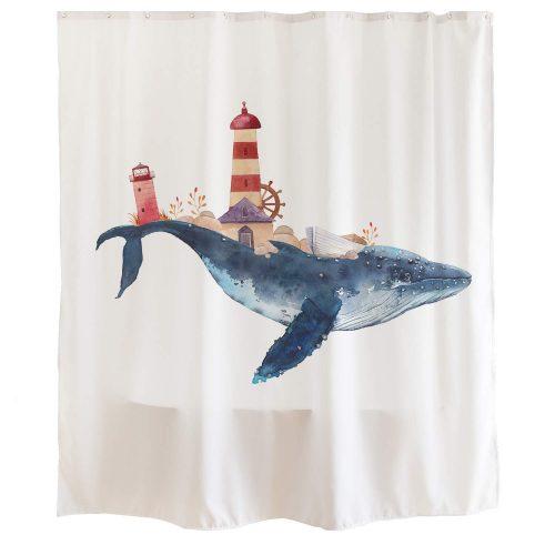 Orange Design シャワーカーテン