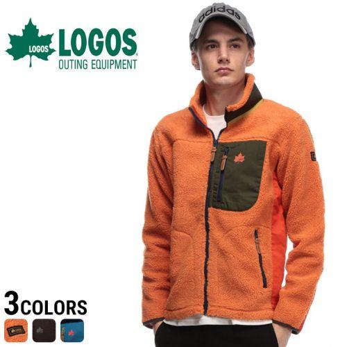ロゴス(LOGOS) カラフル ボア フルジップ ジャケット