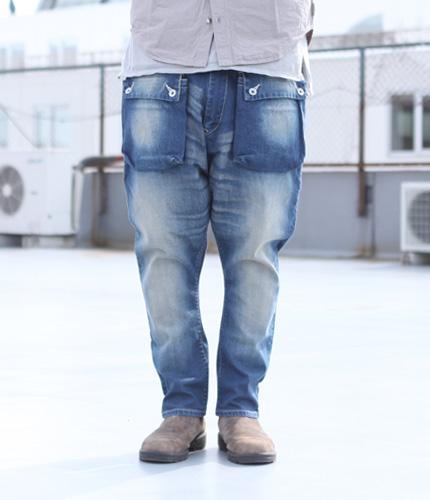 ネイタルデザイン(NATAL DESIGN) G55 Sarouel Flap Denim Pants