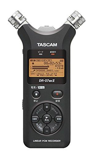 タスカム(TASCAM) リニアPCMレコーダー 24bit/96kHz対応 DR-07MKII-JJ