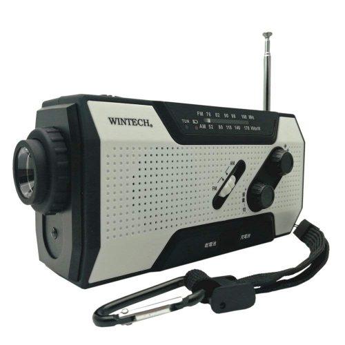 WINTECH 防滴手回し充電ラジオライト KDR-201WP