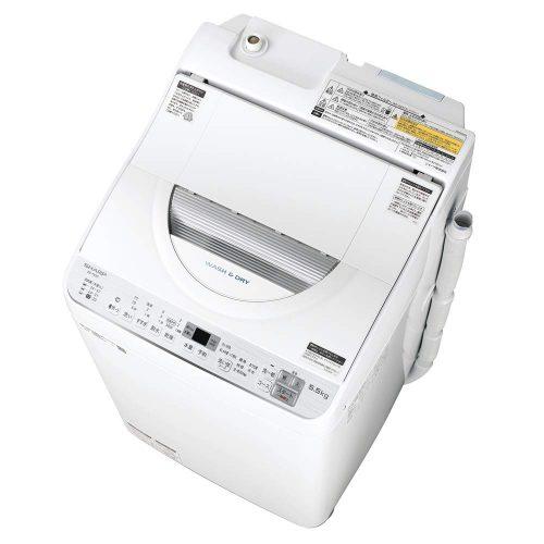 シャープ(SHARP) タテ型洗濯乾燥機 5.5kg ES-TX5C