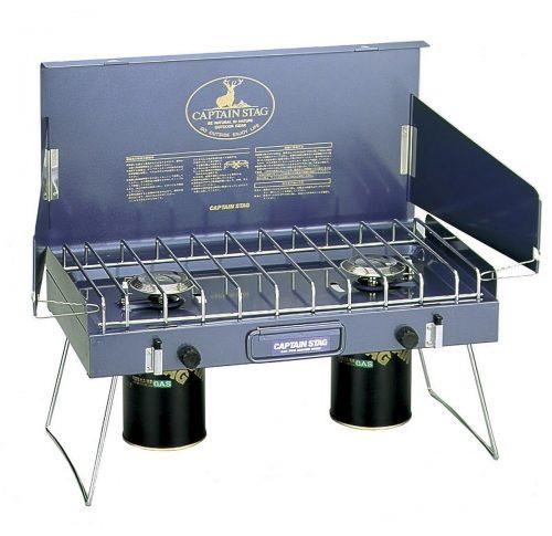 キャプテンスタッグ  (CAPTAIN STAG) バーベキュー BBQ用 ステイジャーコンパクトガスバーナーコンロM-8249