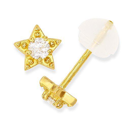 ツツミ(TSUTSUMI) K18イエローゴールド ダイヤモンドピアス