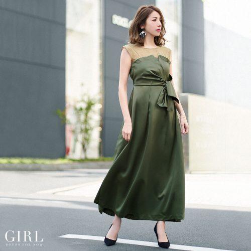ガール(GIRL) ビスチェ風ロングワンピース・パーティードレス