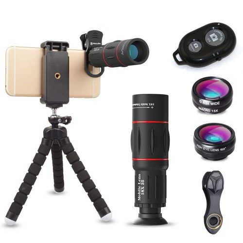 ActyGo 高品質HD18X望遠レンズ付きスマホレンズ4点セット