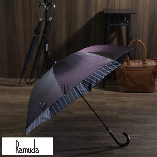 ラムダ(Ramuda) 甲州織 耐風骨雨傘 8本骨 65cm