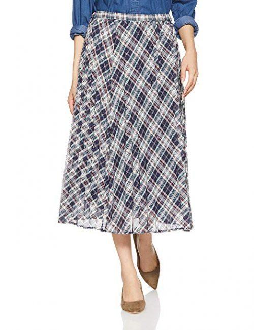 ナチュラルビューティーベーシック(NATURAL BEAUTY BASIC) タータンチェックプリーツスカート