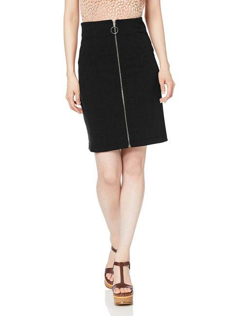 ムルーア(MURUA) フロントジップタイトスカート