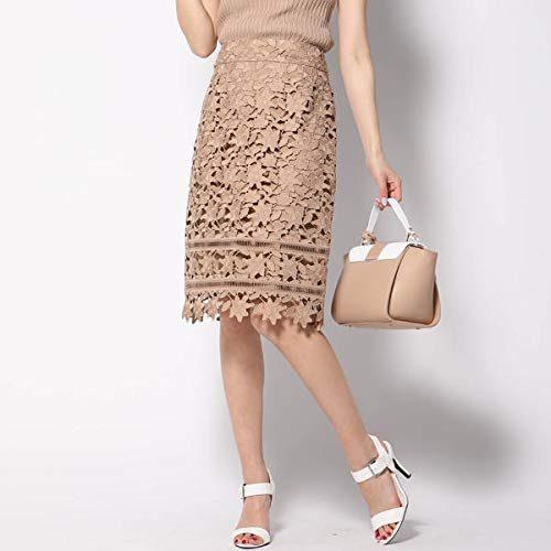 クイーンズコート(QUEENS COURT) ケミカルレースタイトスカート