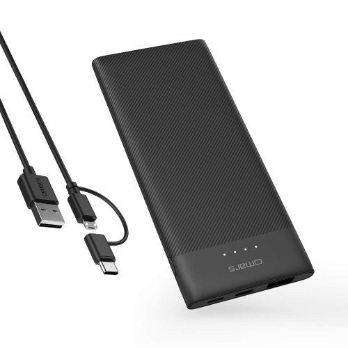 Omars 薄型モバイルバッテリー 5000mAh OMPB3705BKCJNL-US