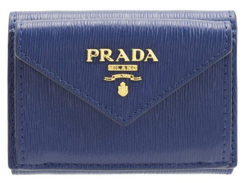プラダ(PRADA) 折財布 三つ折り ミニ コンパクト レザー
