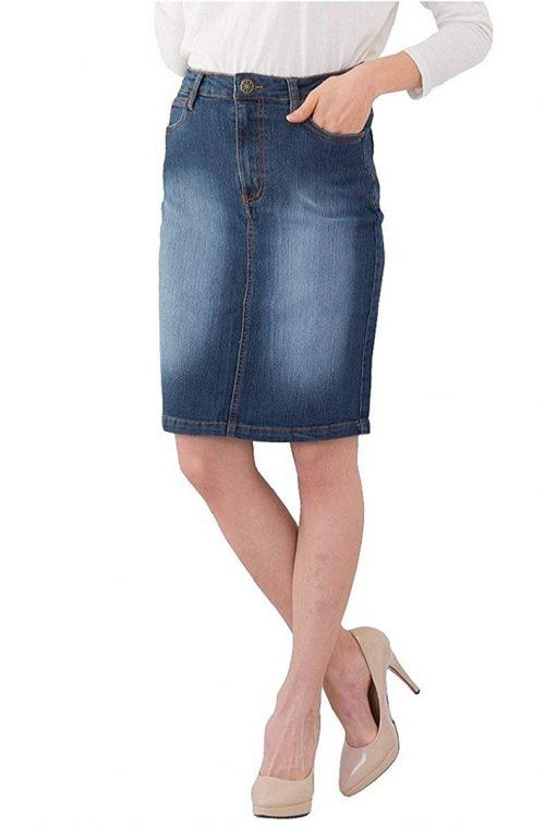 クロスマーベリー(Crossmarbery) デニムタイトスカート
