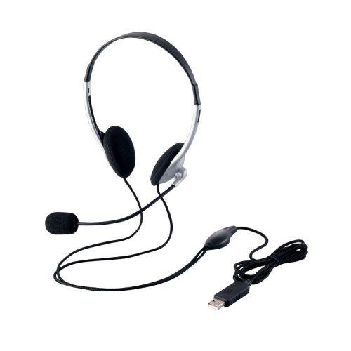 エレコム(ELECOM) ヘッドセット マイク USB 両耳 オーバーヘッド 1.8m HS-FBE01USV