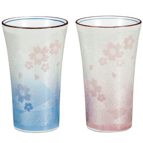 九谷焼 ビールグラス 銀彩さくら