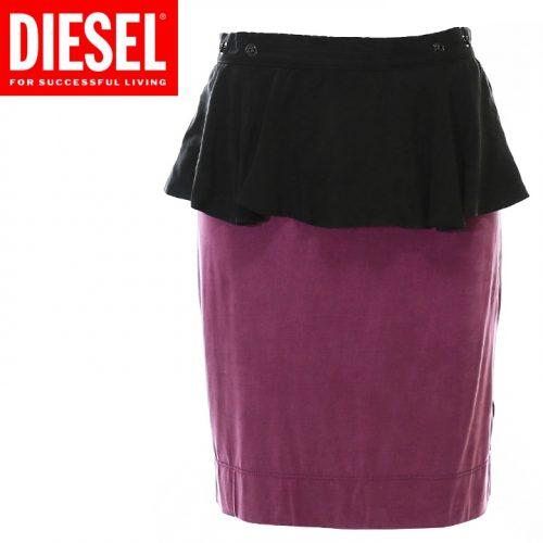 ディーゼル(DIESEL) バイカラーペプラムスカート