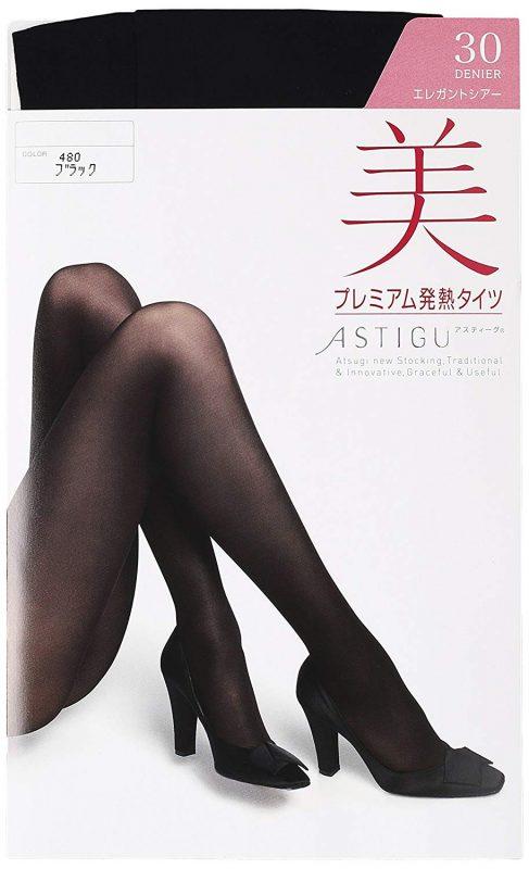 アツギ(ATSUGI) アスティーグ 美 プレミアム発熱タイツ 30デニール FP6130