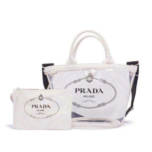 プラダ(PRADA) プレックス ファブリック ハンドバッグ