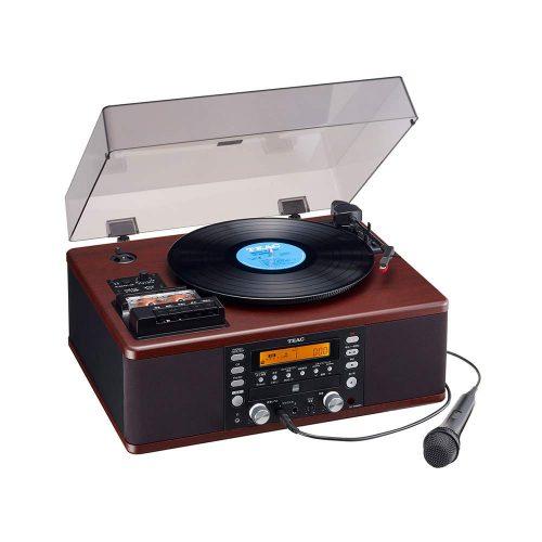 ティアック(TEAC) ターンテーブル/カセットプレーヤー付CDレコーダー LP-R560K