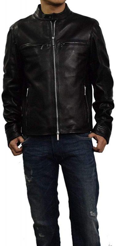 ヒューゴボス(HUGO BOSS) ボスブラック メルセデスベンツAMGコラボ メンズライダースジャケット