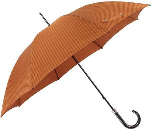 バーバリー (BURBERRY) 日本製 ブランドロゴ刺繍 ストライプ紳士長傘