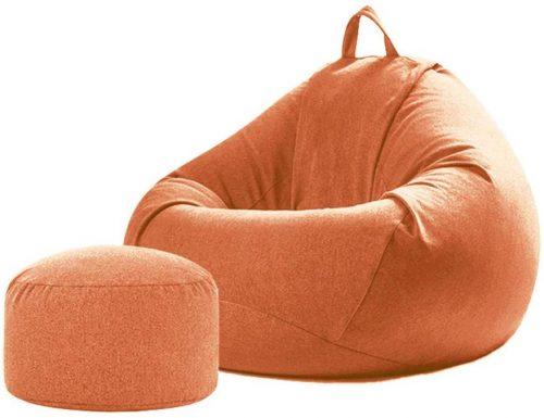 Kanemt ビーズクッション 足枕付きセット