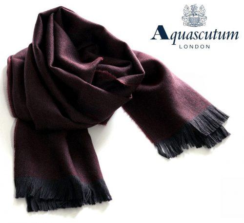アクアスキュータム(Aquascutum)ウールストール