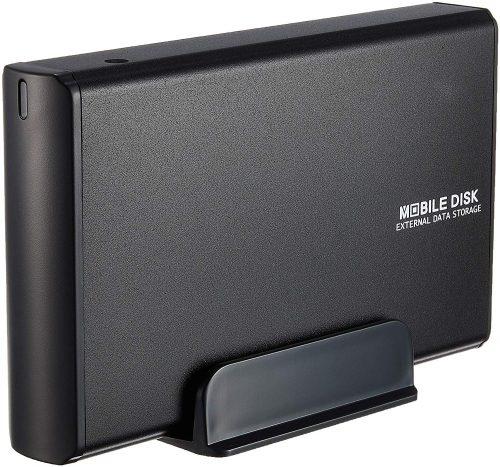 玄人志向 USB2.0接続 3.5型 SATA HDDケース(マットブラック) GW3.5AA-SUP/MB