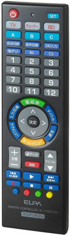エルパ(ELPA) 学習機能付マルチリモコン RC-TV007UDL