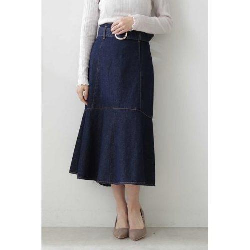 プロポーションボディドレッシング(PROPORTION BODY DRESSING) マーメイドミモレデニムスカート