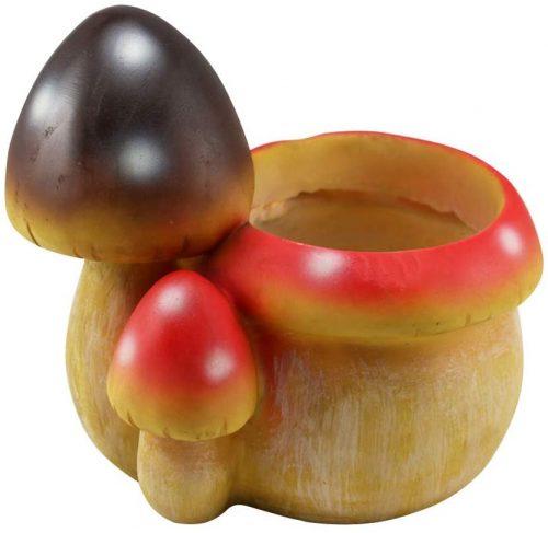 Yardwe 樹脂多肉植物 植木鉢 キノコ形 サボテンハーブ 植物プランター