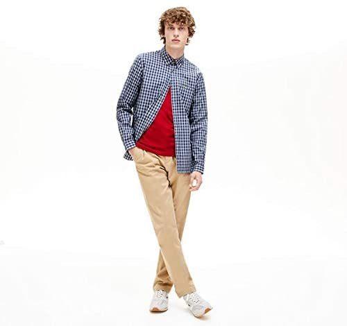 ラコステ(LACOSTE) オックスフォードチェックボタンダウンシャツ
