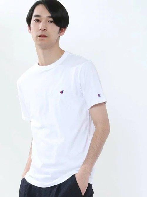 チャンピオン(Champion) ベーシックワンポイントロゴ刺繍半袖Tシャツ