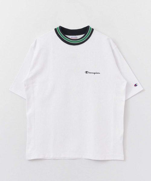 チャンピオン(Champion) Champion×DOORS別注ラインリブTシャツ