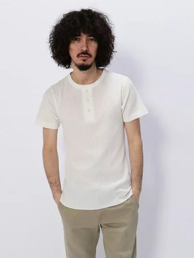 アヴィレックス(AVIREX) デイリー半袖サーマルヘンリーネックTシャツ