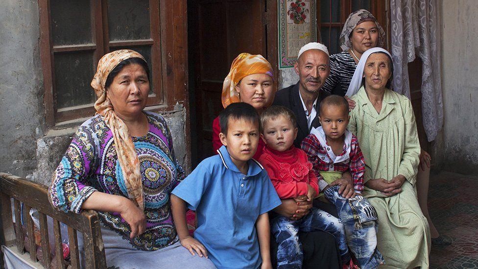 An Uyghur muslim family in China