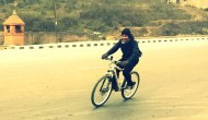 Pinjal, another Catch Themes member, glides through the roads
