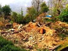 The earthquake brought tragic destruction to the residents of Takure, with houses razed to the ground.