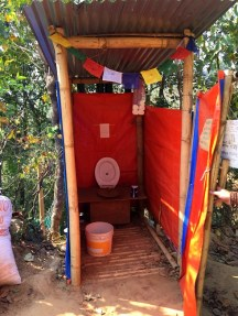 Home-made toilet, western style.