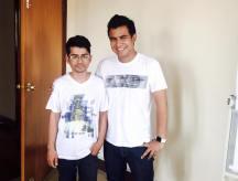 With Suwash Kunwar
